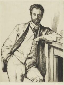 Charles Holden, by Francis Dodd - NPG 4173