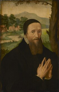 Unknown man, formerly known as Richard Hooker, by Unknown artist, 16th century? - NPG 844 - © National Portrait Gallery, London