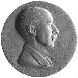 A.E. Housman, by Theodore Spicer-Simson - NPG 2051