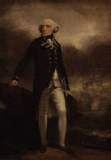 Richard Howe, 1st Earl Howe, by Henry Singleton - NPG 75