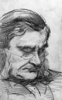 Thomas Henry Huxley, by Marian Collier (née Huxley) - NPG 3145