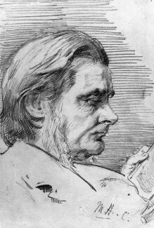 Thomas Henry Huxley, by Marian Collier (née Huxley) - NPG 3147