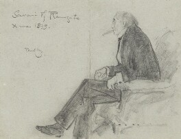 Sir Henry Irving, by Phil May - NPG 3679