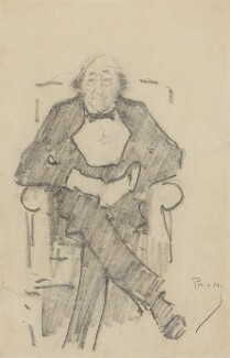 Sir Henry Irving, by Phil May - NPG 3681