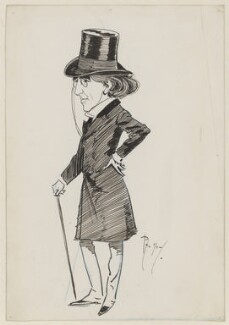 Sir Henry Irving, by Phil May - NPG 1611