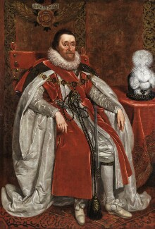 King James I of England and VI of Scotland, by Daniel Mytens - NPG 109