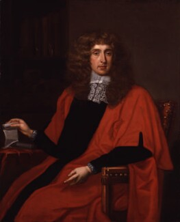 George Jeffreys, 1st Baron Jeffreys of Wem, after John Michael Wright - NPG 56