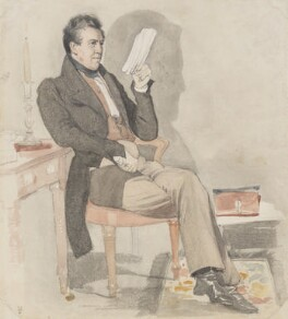 William Jerdan, by Daniel Maclise - NPG 3028