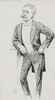 Sir Harry Hamilton Johnston, by Harry Furniss, 1890s - NPG 3473 - © National Portrait Gallery, London