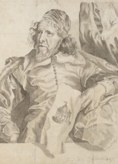 Inigo Jones, after an engraving by Robert van Voerst, after  Sir Anthony van Dyck,  - NPG  - © National Portrait Gallery, London