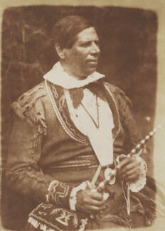 Ka(h)kewaquonaby, a Canadian chief (Peter ('Kahkewaquonaby') Jones), by David Octavius Hill, and  Robert Adamson - NPG P6(94)