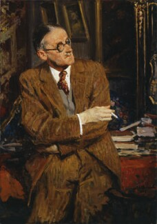 James Joyce, by Jacques-Emile Blanche, 1935 - NPG 3883 - © National Portrait Gallery, London