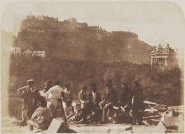 Edinburgh Castle: group probably including George Meikle Kemp, by David Octavius Hill, and  Robert Adamson - NPG P6(234)
