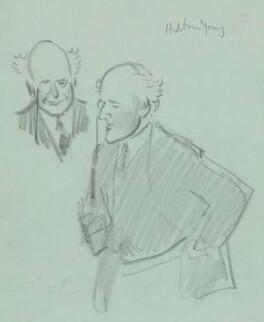 (Edward) Hilton Young, 1st Baron Kennet, by Sir David Low - NPG 4529(398)