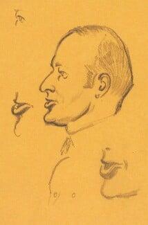 William Stephen Richard King-Hall, Baron King-Hall, by Sir David Low - NPG 4529(196a)