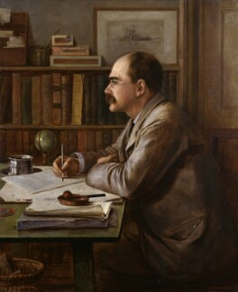 Rudyard Kipling, by Sir Philip Burne-Jones, 2nd Bt, 1899 - NPG  - © National Portrait Gallery, London