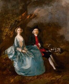 Sarah Kirby (née Bull); (John) Joshua Kirby, by Thomas Gainsborough, circa 1751-1752 - NPG 1421 - © National Portrait Gallery, London