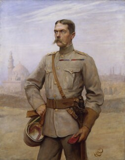 Herbert Kitchener, 1st Earl Kitchener, by Sir Hubert von Herkomer, and  Frederick Goodall - NPG 1782
