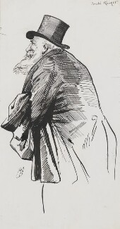 Joseph Knight, by Harry Furniss - NPG 3479