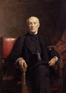 Henry Thurstan Holland, 1st Viscount Knutsford, by Sir Arthur Stockdale Cope - NPG 2947