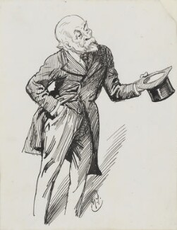 Henry du Pré Labouchère, by Harry Furniss - NPG 3589