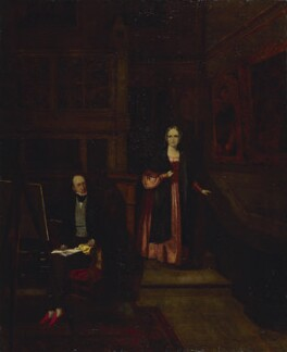 Francis Seymour Larpent; Charlotte Rosamund Larpent (née Arnold), by Unknown artist - NPG 3806
