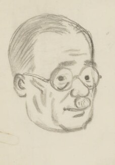 Harold Laski, by Sir David Low - NPG 4529(205)