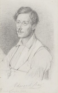 Edward Lear, by Wilhelm Nicolai Marstrand, 1840 -NPG 3055 - © National Portrait Gallery, London