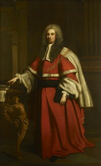 Sir William Lee, by C.F. Barker, after  John Vanderbank - NPG 471