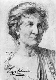 Elizabeth Nina Mary Frederica ('Liza') Lehmann (Mrs Bedford), by Flora Lion - NPG 4118