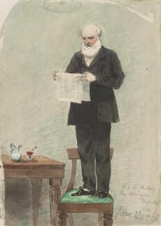 Charles George Lewis, by Marshall Claxton - NPG 890