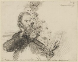 Group including Charles Stewart Parnell and Sir George Henry Lewis, by Sydney Prior Hall - NPG 2243