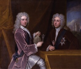 Thomas Pelham-Holles, 1st Duke of Newcastle-under-Lyne; Henry Clinton, 7th Earl of Lincoln, by Sir Godfrey Kneller, Bt, circa 1721 - NPG  - © National Portrait Gallery, London