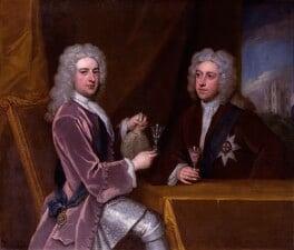 Thomas Pelham-Holles, 1st Duke of Newcastle-under-Lyne; Henry Clinton, 7th Earl of Lincoln, by Sir Godfrey Kneller, Bt, circa 1721 - NPG 3215 - © National Portrait Gallery, London