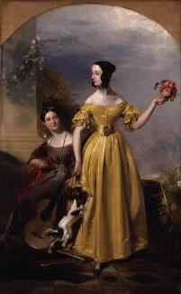Alexina Nesbit Sandford (née Lindsay); Catherine Hepburne Lindsay, by Andrew Geddes, exhibited 1838 - NPG 3791 - © National Portrait Gallery, London