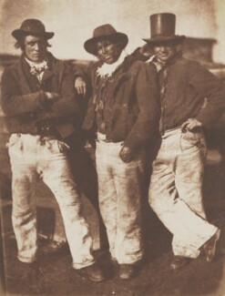 Fishermen Ashore, by David Octavius Hill, and  Robert Adamson - NPG P6(215)