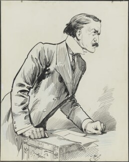 David Lloyd George, by Harry Furniss, 1880s-1900s - NPG 3398 - © National Portrait Gallery, London