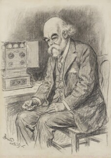 Sir Oliver Joseph Lodge, by Bernard Partridge - NPG 4077