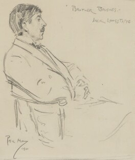 Sir John Longstaff, by Phil May - NPG 4392