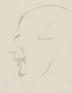 Sir (Alfred Charles) Bernard Lovell, by Sir David Low - NPG 4529(212)
