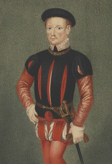 Unknown man, formerly known as Guy Dudley, Earl of Warwick, copy by George Perfect Harding, after  Unknown artist - NPG 2491