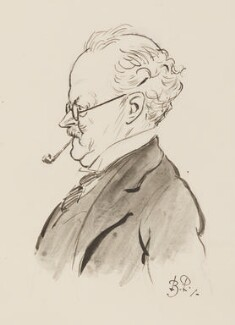 Sir Edwin Lutyens, by Bernard Partridge, study for drawing published in Punch 20 July 1927 - NPG 3672 - © National Portrait Gallery, London