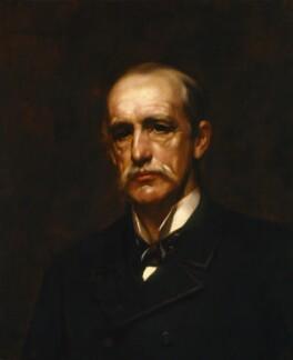 Sir Alfred Comyn Lyall, by Henry John Hudson, after  Sir James Jebusa Shannon - NPG 2170