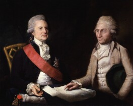 George Macartney, 1st Earl Macartney; Sir George Leonard Staunton, 1st Bt, by Lemuel Francis Abbott - NPG 329