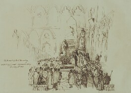 The Funeral of Thomas Babington Macaulay, Baron Macaulay, by Sir George Scharf - NPG 2689