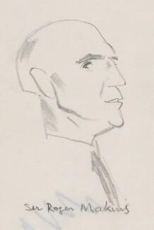 Roger Mellor Makins, 1st Baron Sherfield, by Sir David Low - NPG 4529(223)