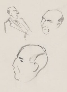 Roger Mellor Makins, 1st Baron Sherfield, by Sir David Low - NPG 4529(224)
