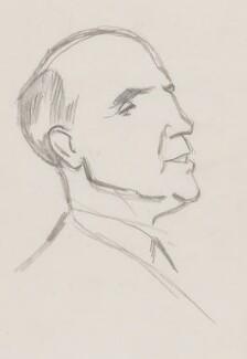 Roger Mellor Makins, 1st Baron Sherfield, by Sir David Low - NPG 4529(226)