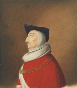 Sir Roger Manwood, copy by George Perfect Harding, after  Unknown artist - NPG 475