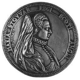 Mary, Queen of Scots, after a medal by Unknown artist, after a medal by  Jacopo Primavera, 18th century, based on a work of late 16th century - NPG 96a - © National Portrait Gallery, London